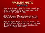 problem areas motion