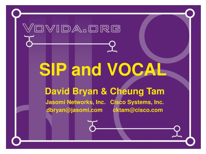 sip and vocal n.