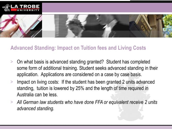 Advanced Standing: Impact on Tuition fees and Living Costs
