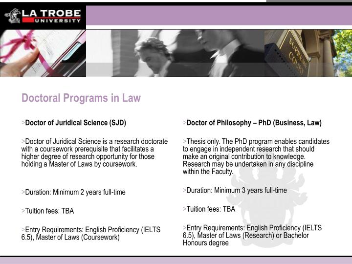Doctor of Juridical Science (SJD)