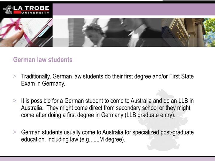 German law students