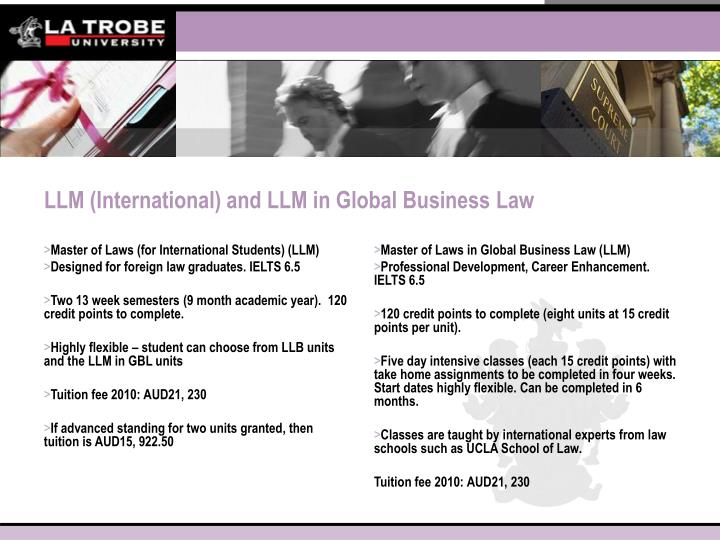 Master of Laws (for International Students) (LLM)