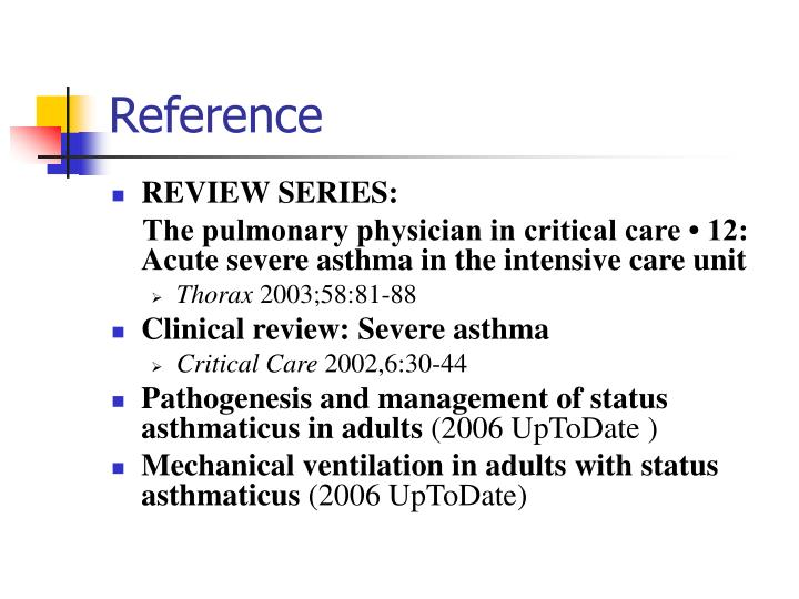 research papers on prehospital assessment and treatment of status asthmaticus Algorithm for emergency department and inpatient management of acute asthma exacerbations  preferably in the prehospital phase in an office setting or  ipratropium for the treatment of.