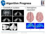 algorithm progress