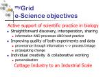 my grid e science objectives