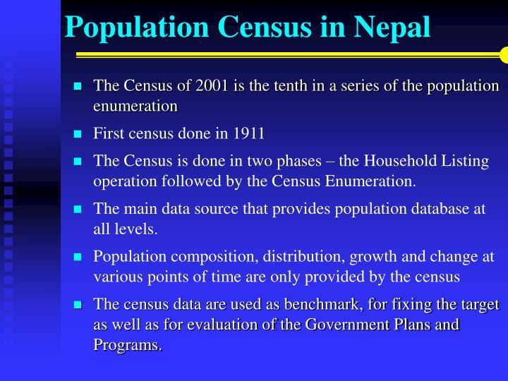 Population census in nepal