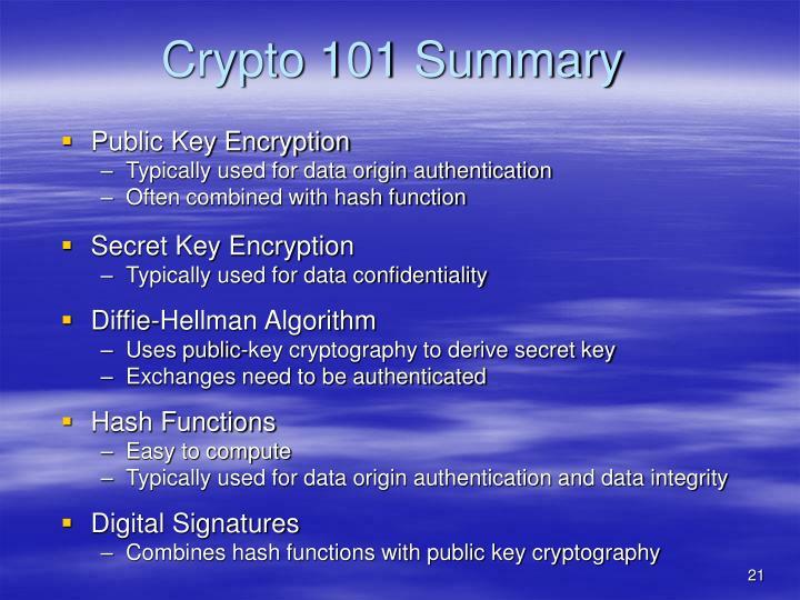 Crypto 101 Summary