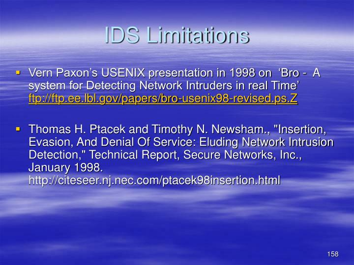 IDS Limitations