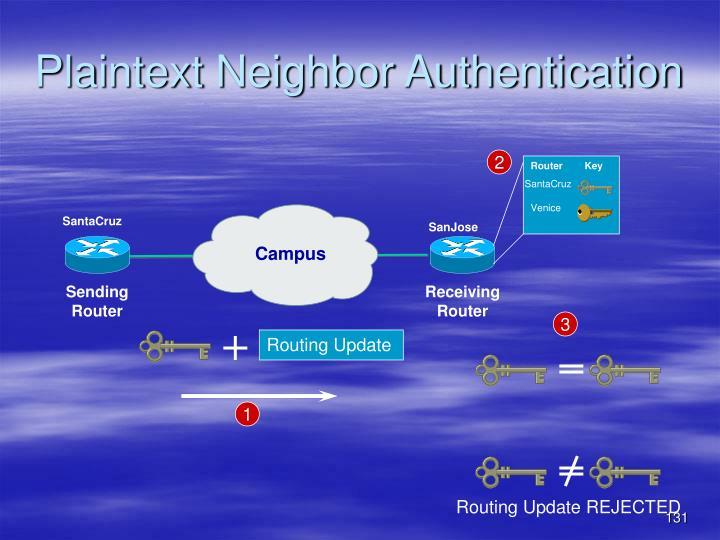 Plaintext Neighbor Authentication