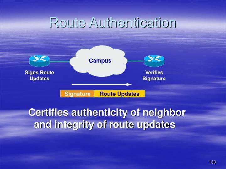 Route Authentication