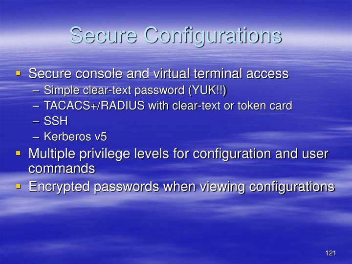 Secure Configurations