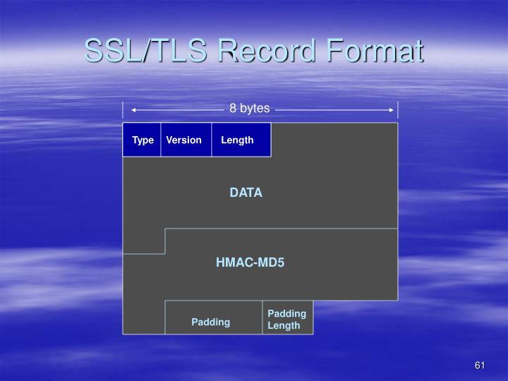 SSL/TLS Record Format