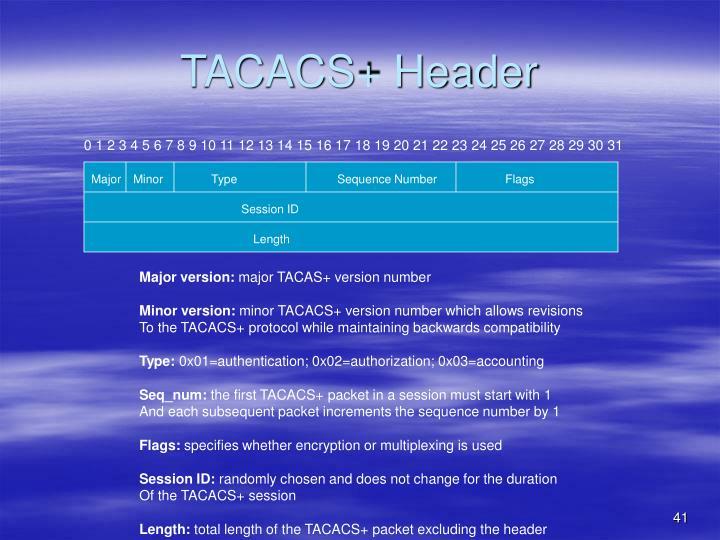 TACACS+ Header