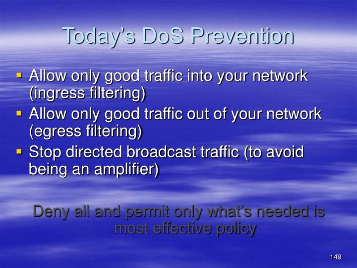 Today's DoS Prevention