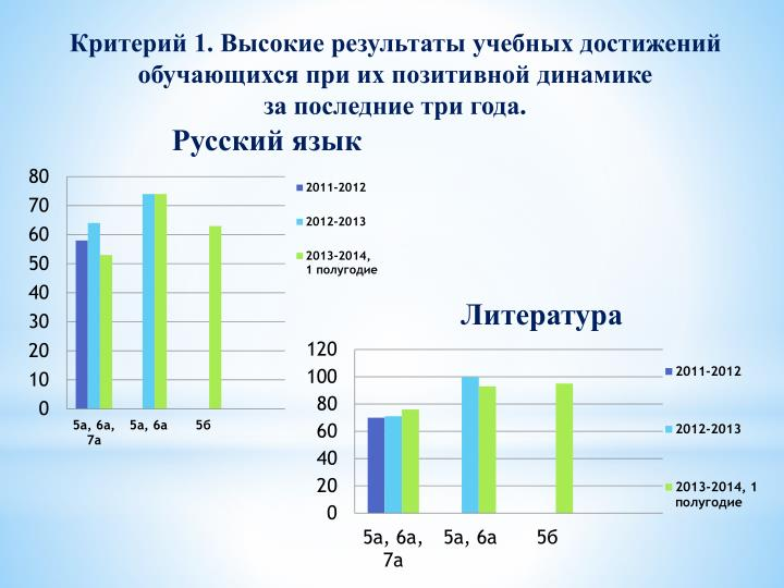 Критерий 1. Высокие результаты учебных достижений обучающихся при их позитивной
