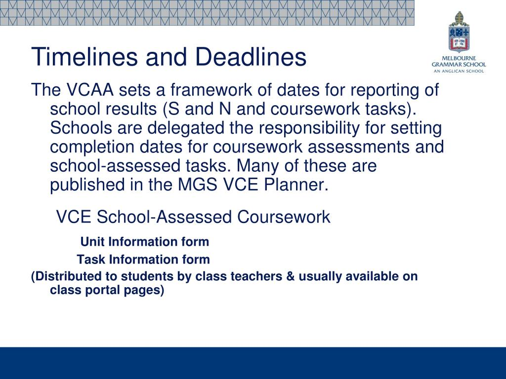 PPT - VCE Information Evening 2012 PowerPoint Presentation