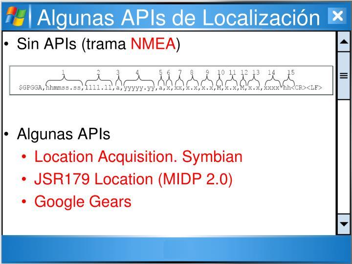 Algunas APIs de Localización