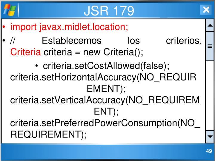 JSR 179