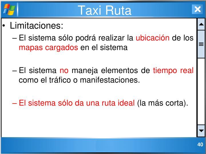 Taxi Ruta