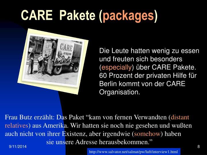 CARE  Pakete (