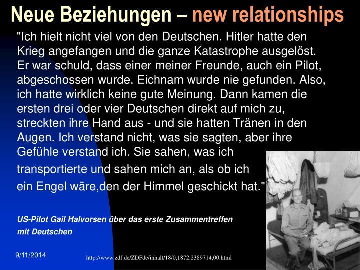 Neue Beziehungen –