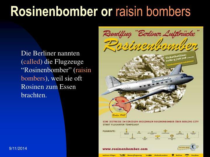 Rosinenbomber or