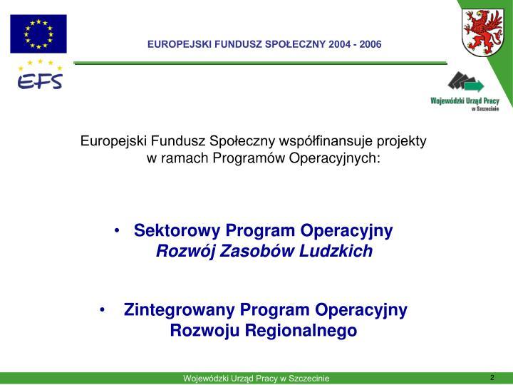 Europejski fundusz spo eczny 2004 2006