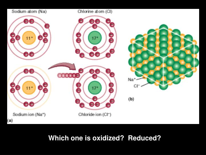 Which one is oxidized?  Reduced?