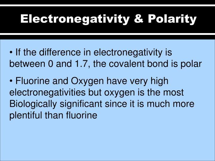 Electronegativity & Polarity