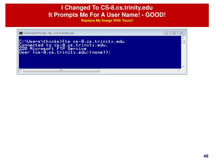 I Changed To CS-8.cs.trinity.edu