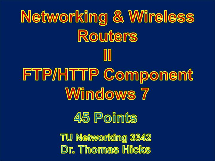 Networking & Wireless Routers