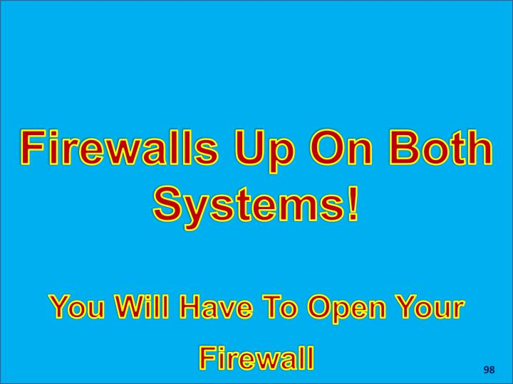 Firewalls Up On Both