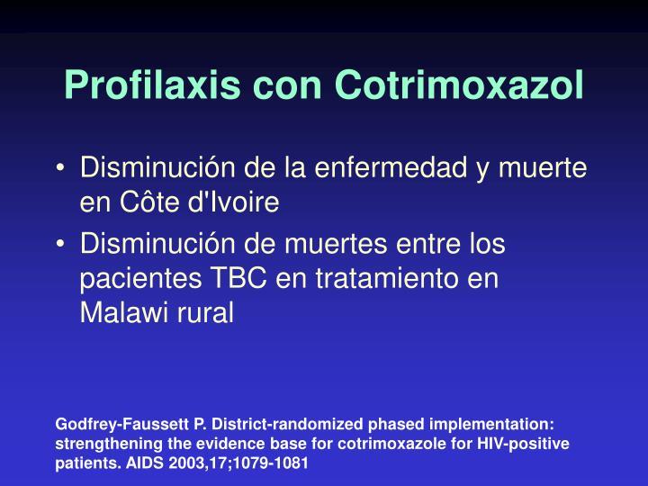Profilaxis con Cotrimoxazol