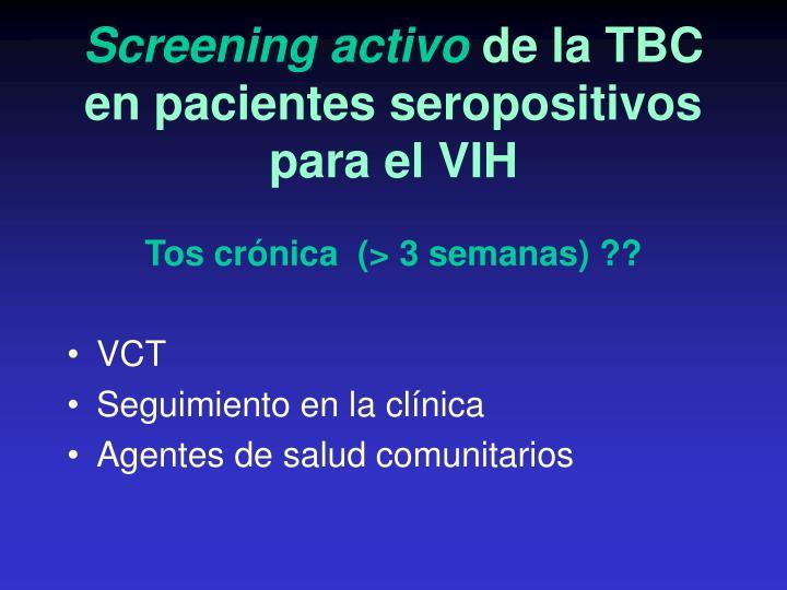 Screening activo