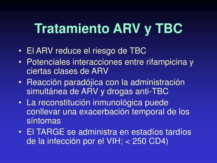 Tratamiento ARV y TBC