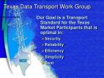 texas data transport work group