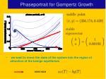 phaseportrait for gompertz growth