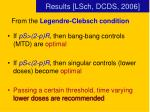 results lsch dcds 2006