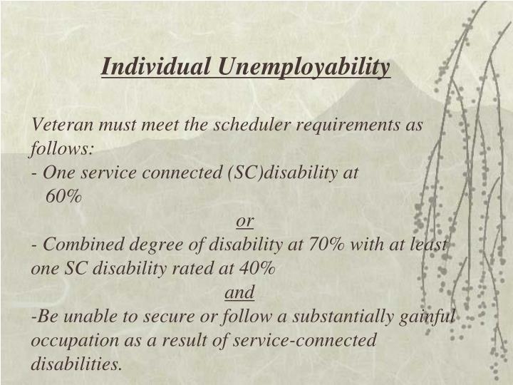 Individual Unemployability