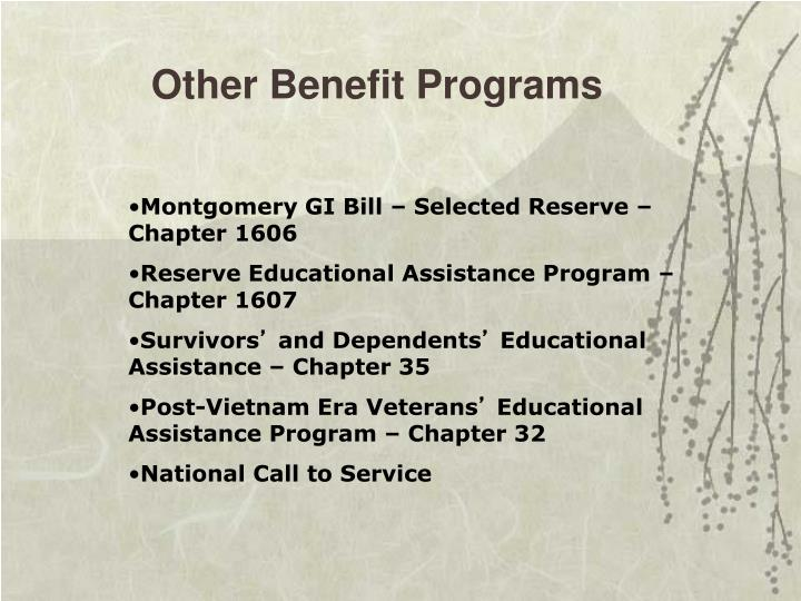 Other Benefit Programs
