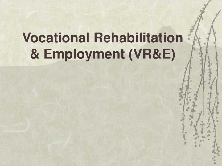 Vocational Rehabilitation & Employment (VR&E)