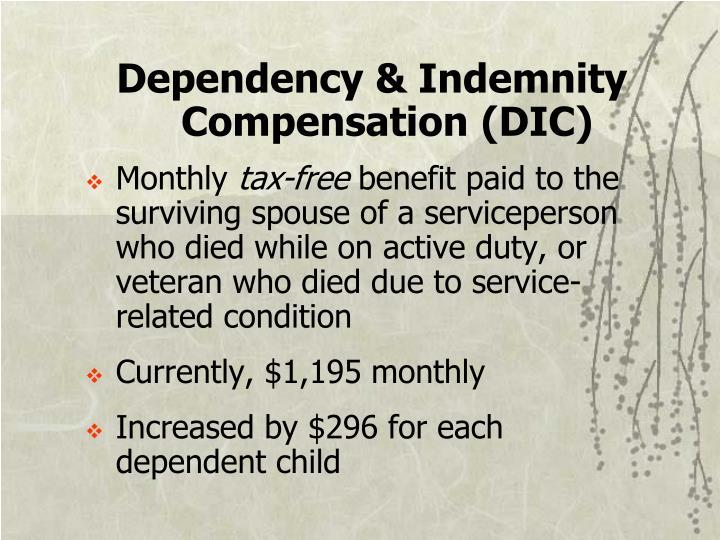 Dependency & Indemnity Compensation (DIC)