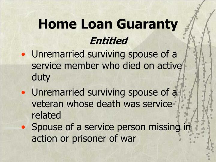 Home Loan Guaranty
