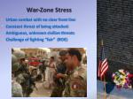 war zone stress