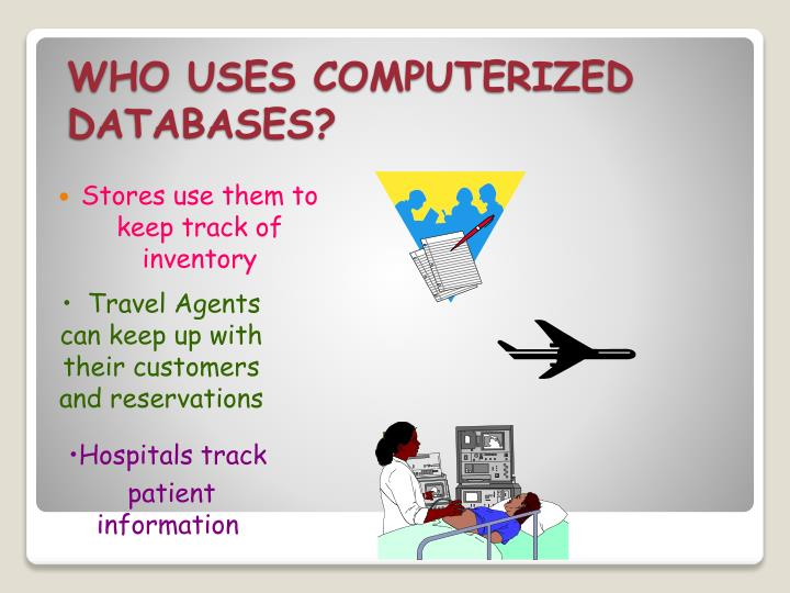 WHO USES COMPUTERIZED DATABASES?