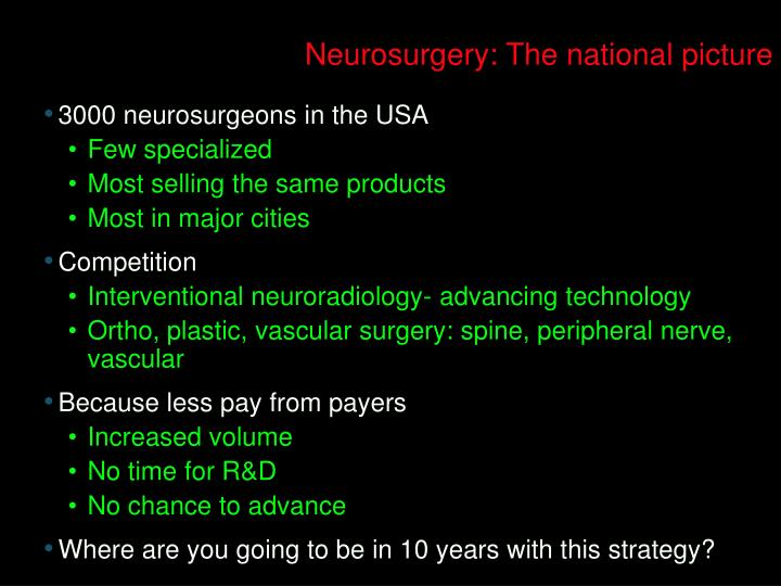 Neurosurgery: The national picture