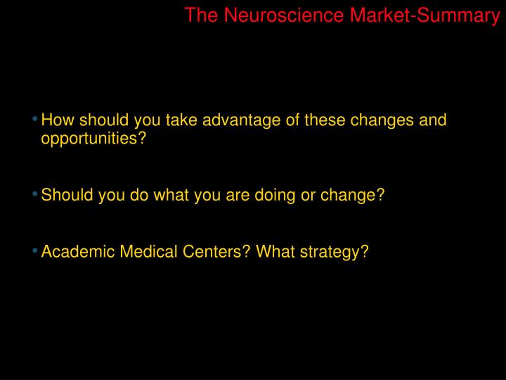 The Neuroscience Market-Summary