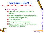 conclusions cont