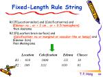 fixed length rule string