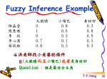 fuzzy inference example